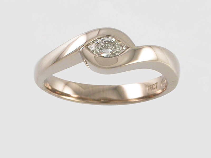 Gold Diamond Engagement Ring Auckland Jewellery
