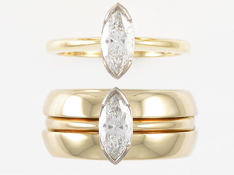 Gold Diamond Wedding Engagement Ring Auckland