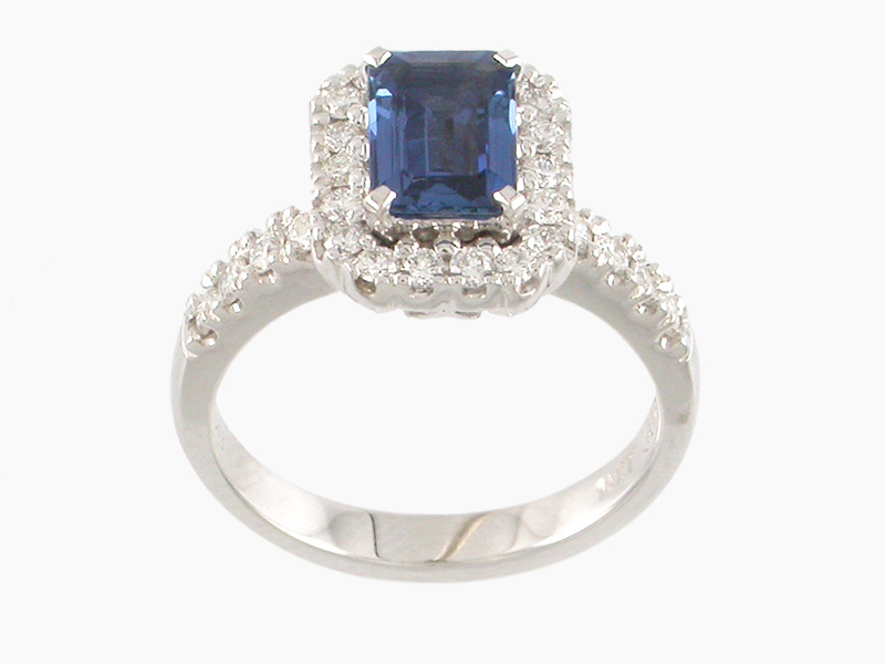 Sapphire Diamond Engagement Ring Auckland Jewellery Rings