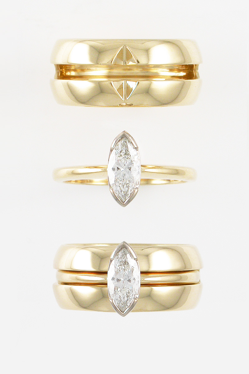 Gary de Witte Custom Wedding Jewellery Rings