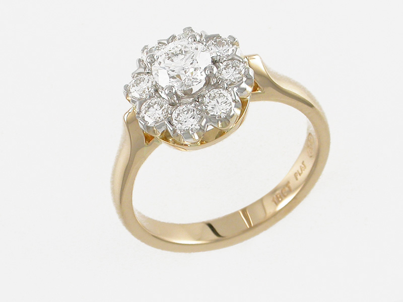 Gold Diamond Engagement Ring Auckland Jewellery Rings